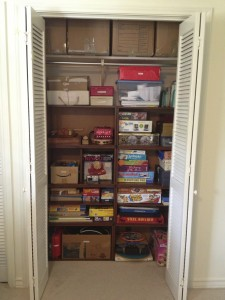 Game closet (after The Spruce Goose)