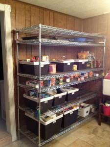 Left pantry shelf (after The Spruce Goose)