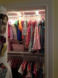 Top of girl's closet (after The Spruce Goose)