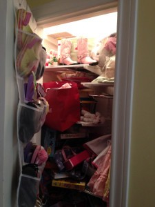 Top of girl's closet (before The Spruce Goose)