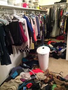 Closet not organized