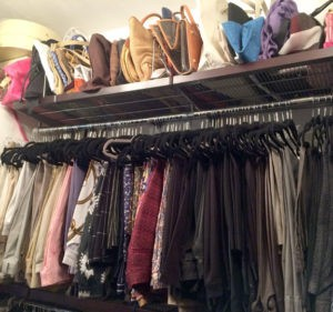 Left side of closet after The Spruce Goose organized.