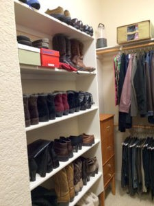 A closet after The Spruce Goose organized