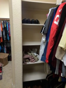 Closet before The Spruce Goose.