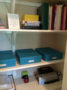 An office closet after The Spruce Goose spruced it up!