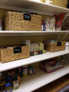 Pantry after The Spruce Goose organized. Labeled bins make such a difference!